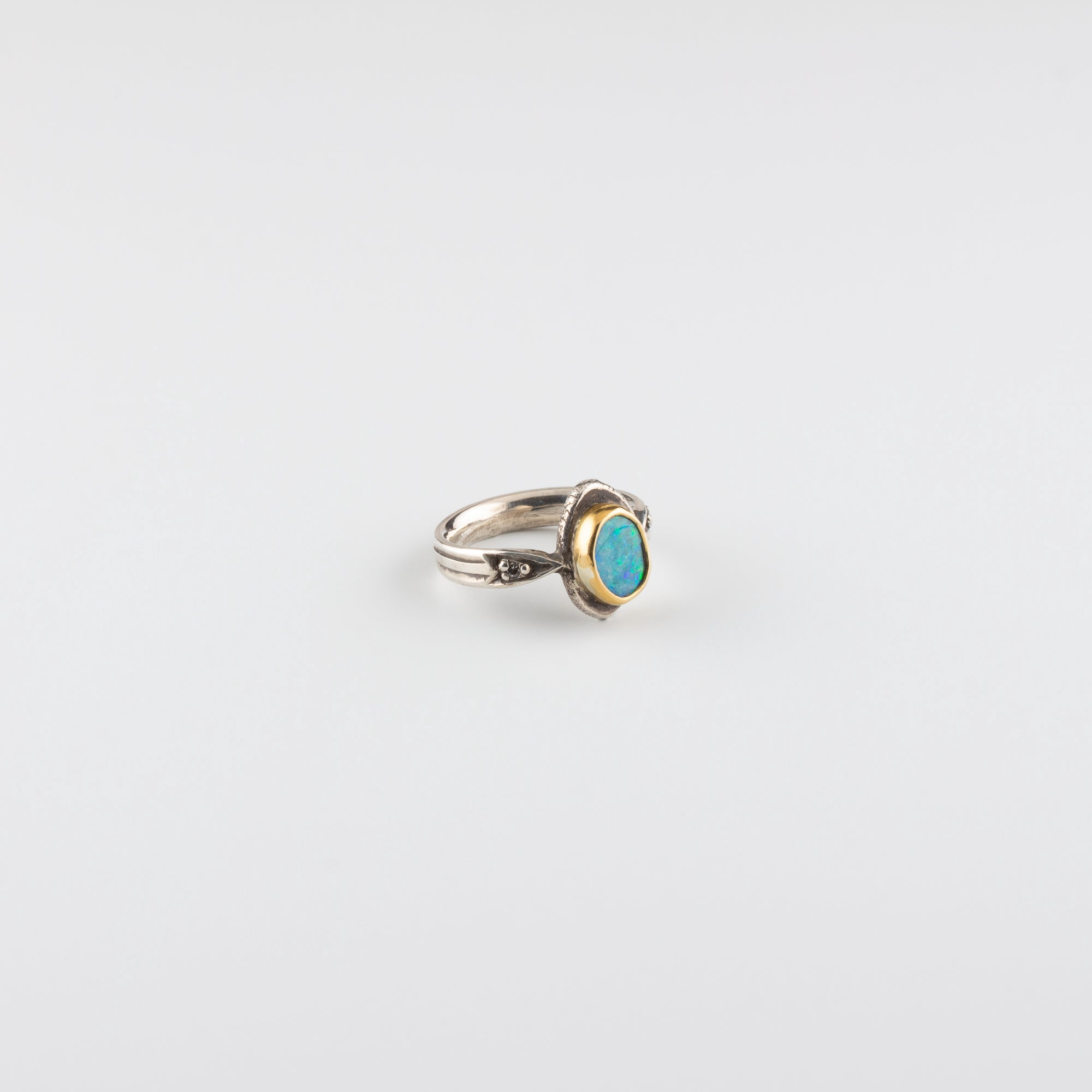 ARROW RING // OPAL & DIAMOND