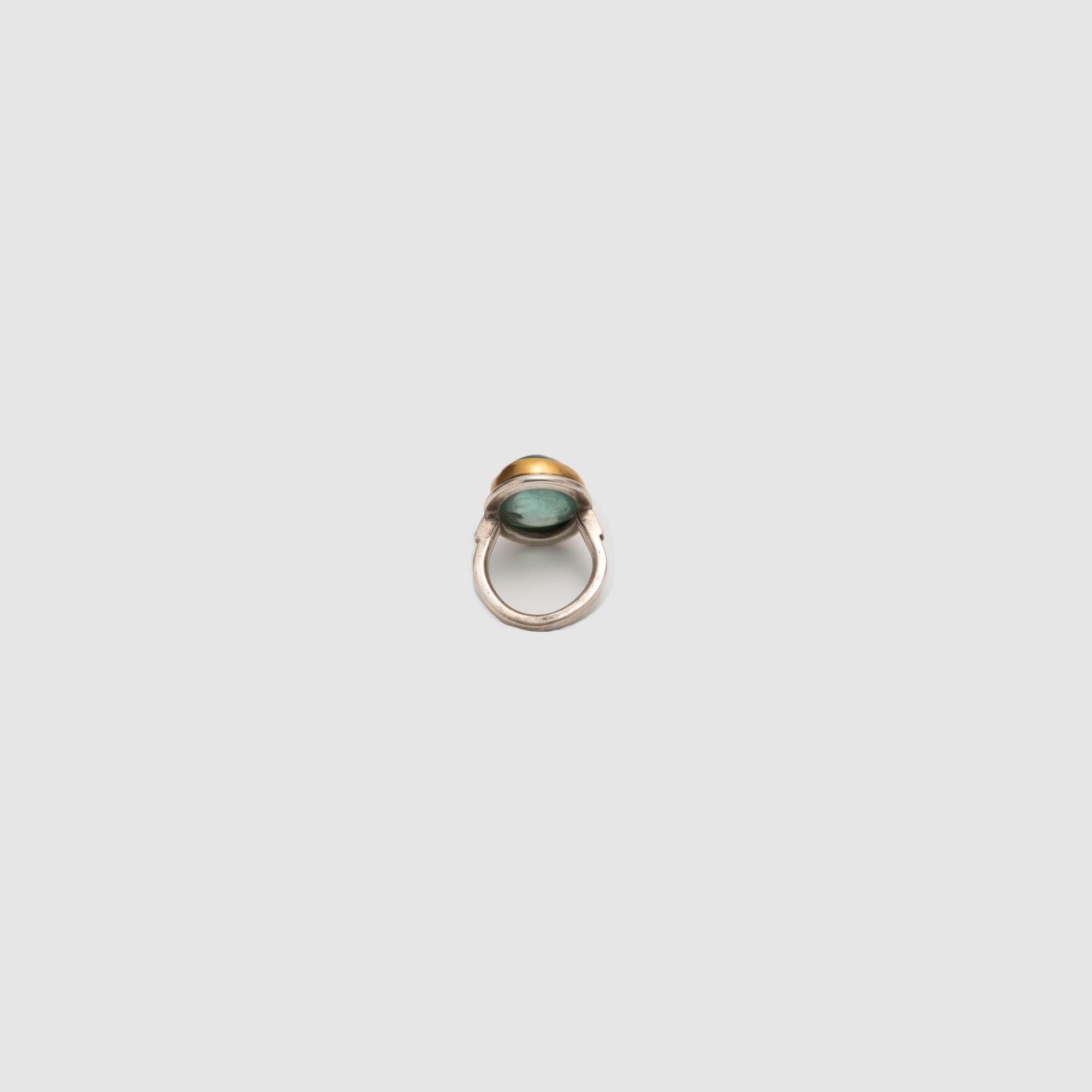 GREEN AQUAMARINE //  22K SILVER RING