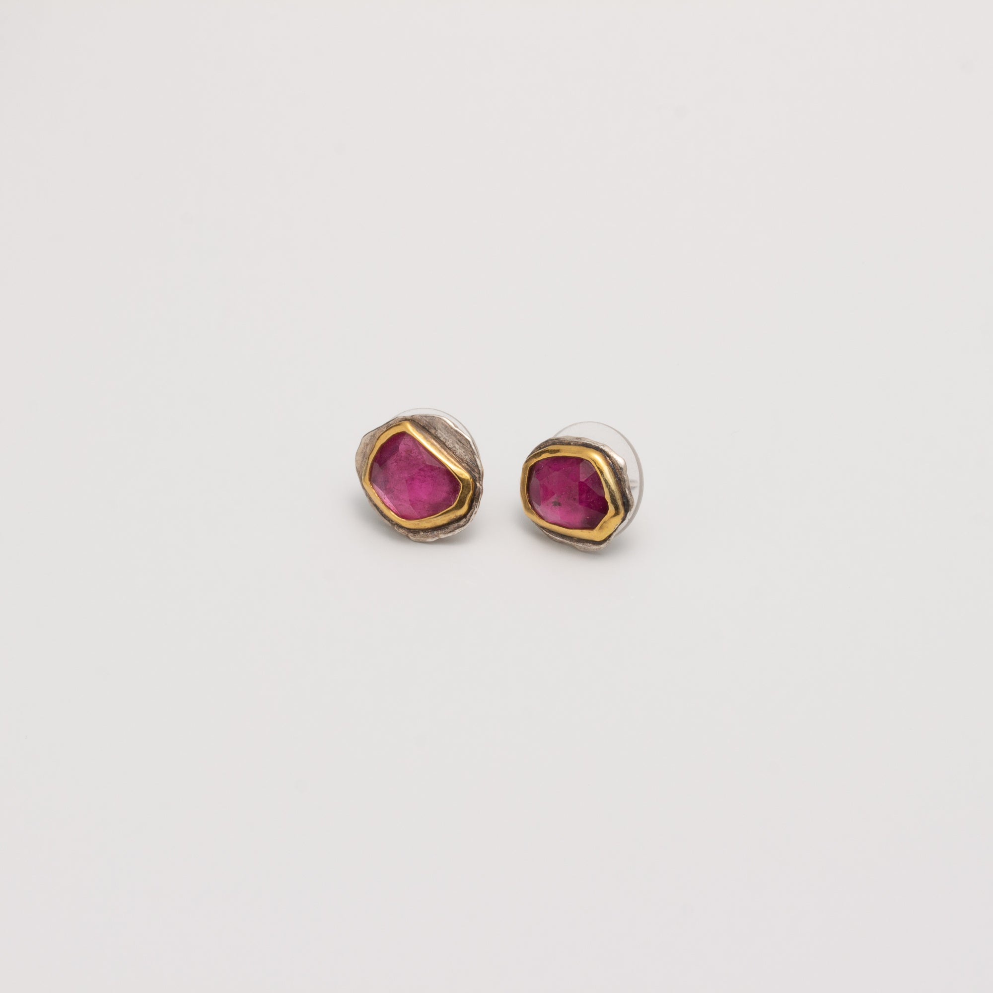 VIOLA // PINK TOURMALINE STUD EARRINGS