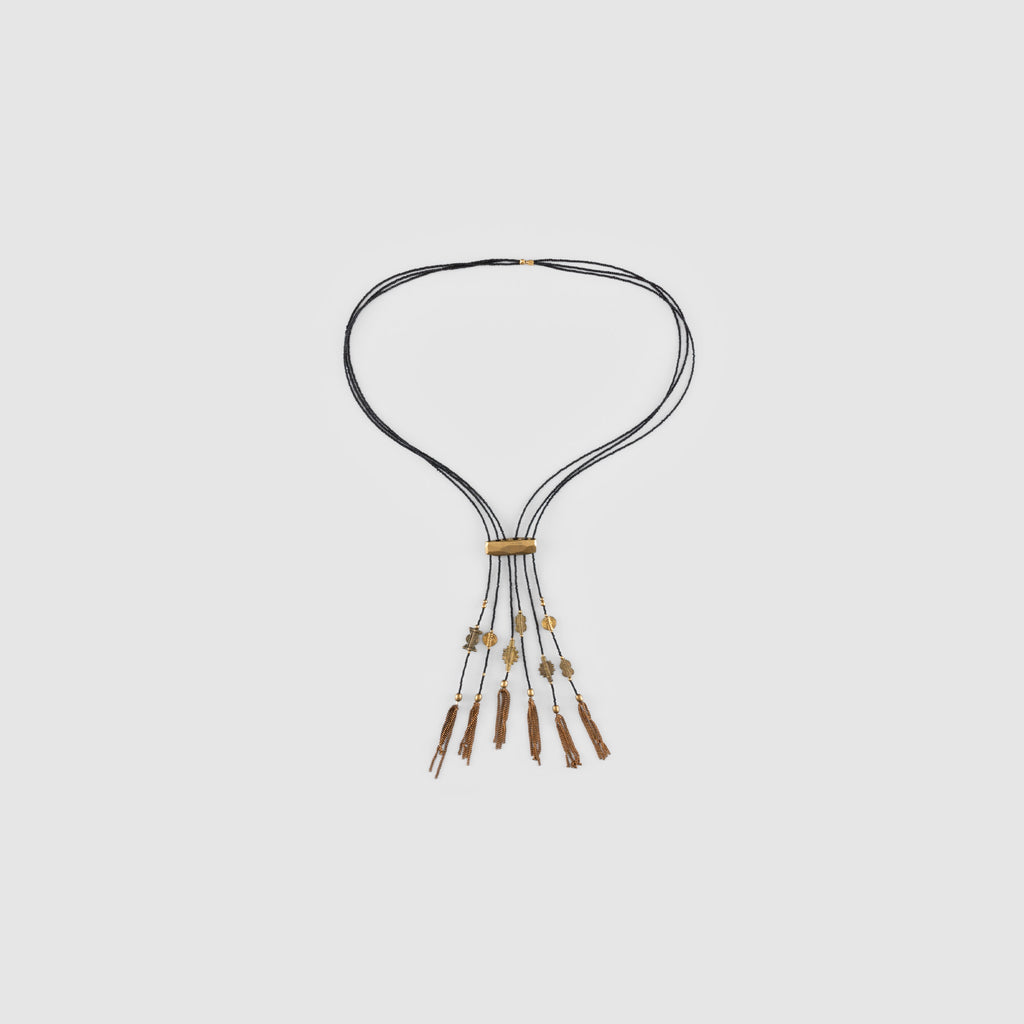NOMAD NECKLACE // BLACK