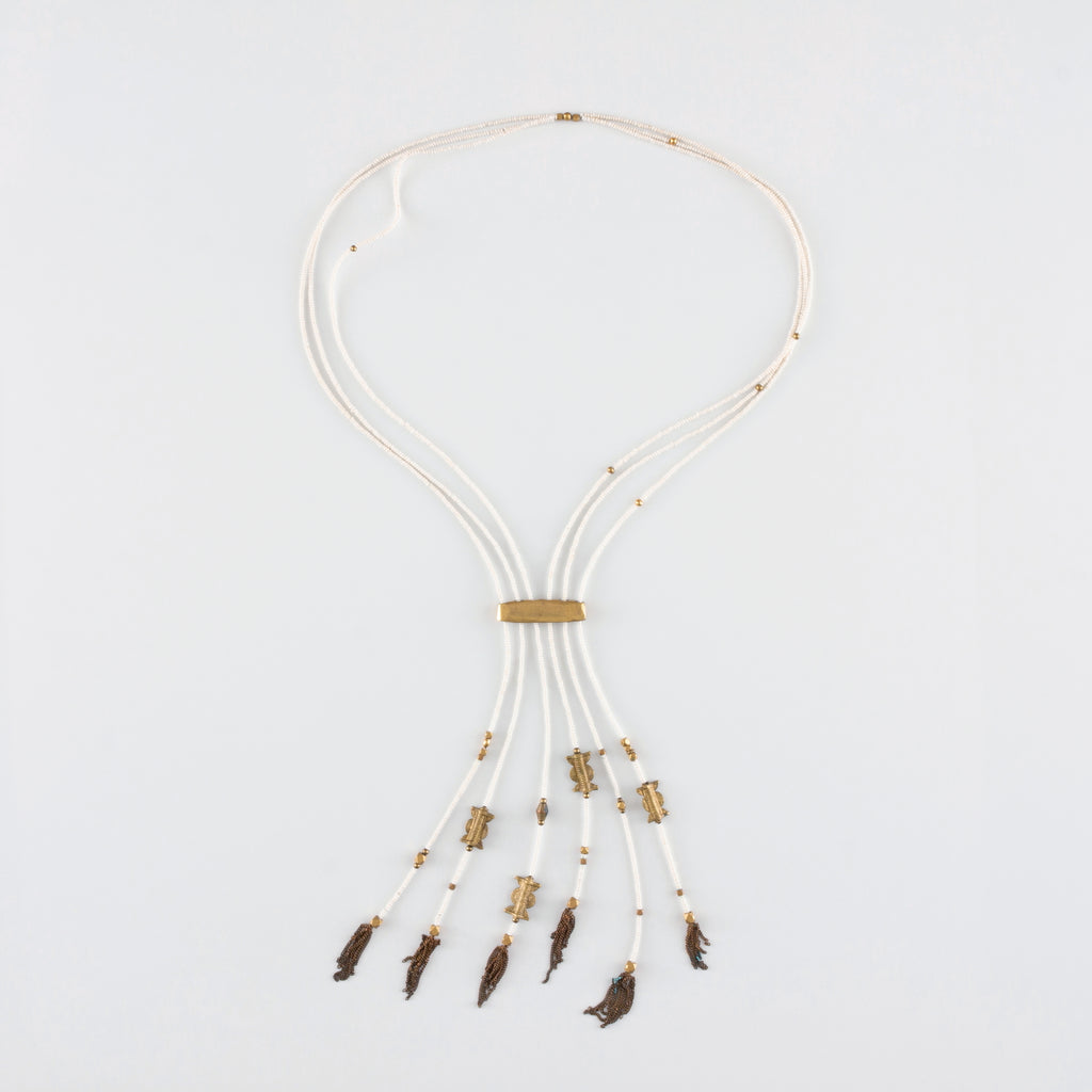 NOMAD NECKLACE // WHITE