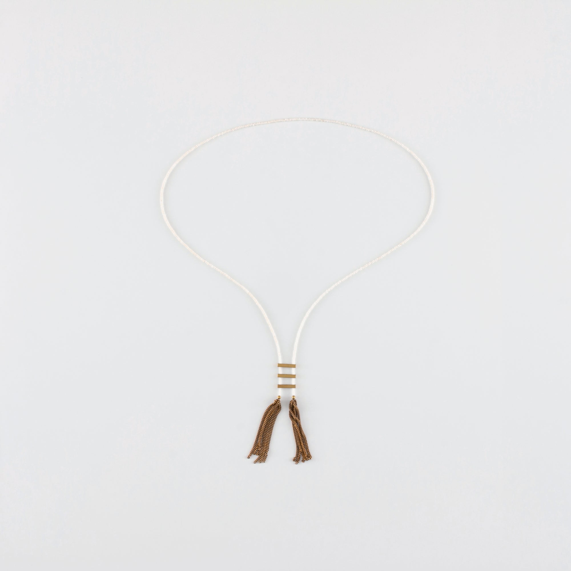 NOMAD // TRAVEL NECKLACE // WHITE
