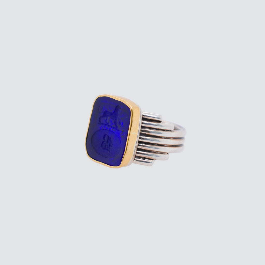 LION & B INTAGLIO SIGNET RING
