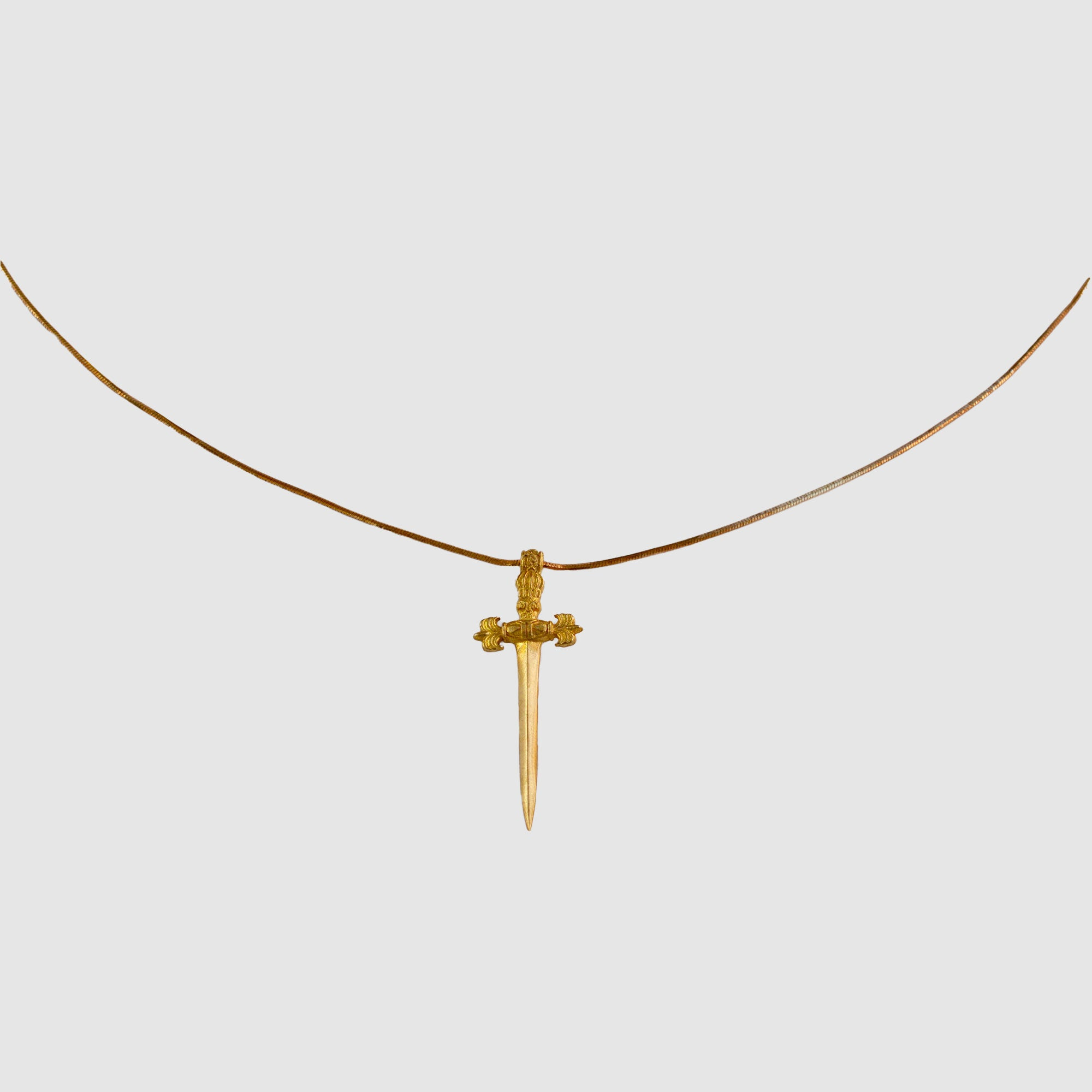 GREAT SUCCESS ADJUSTABLE LENGTH  NECKLACE // SWORD