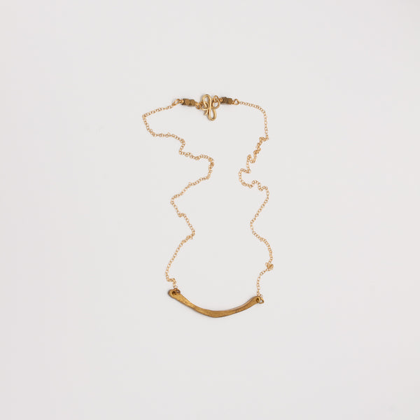 LUNA BRASS BIB NECKLACE // PETITE