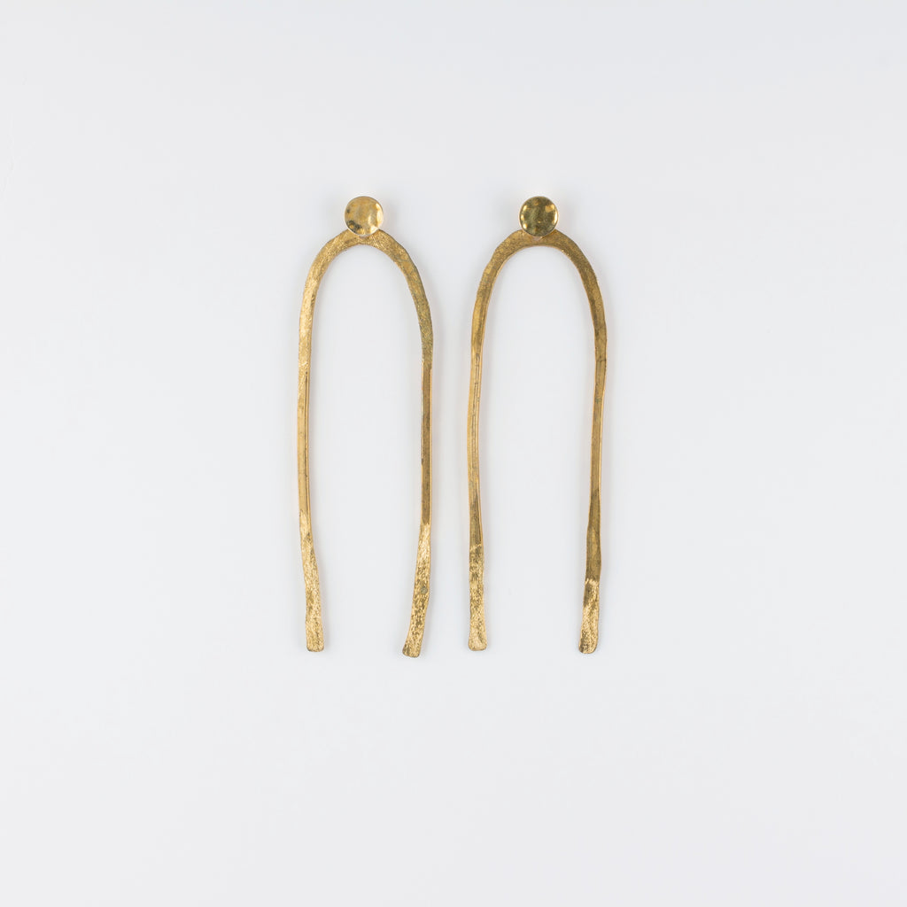 ARCO  BRASS POST EARRINGS // LARGE