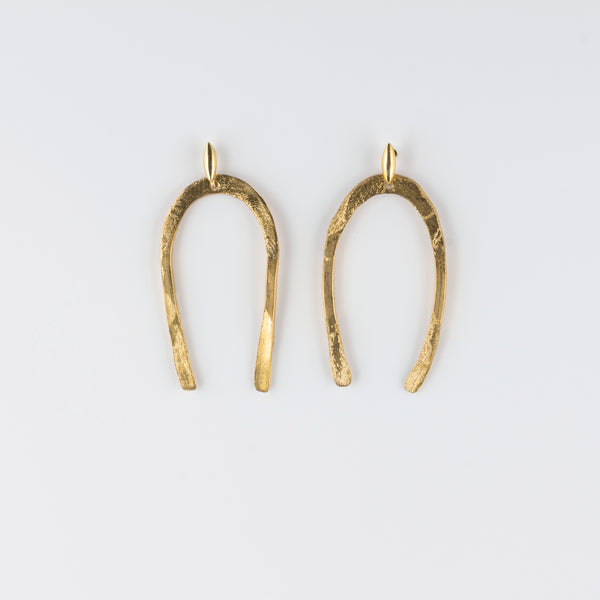 ARCO POST BRASS EARRINGS // MEDIUM