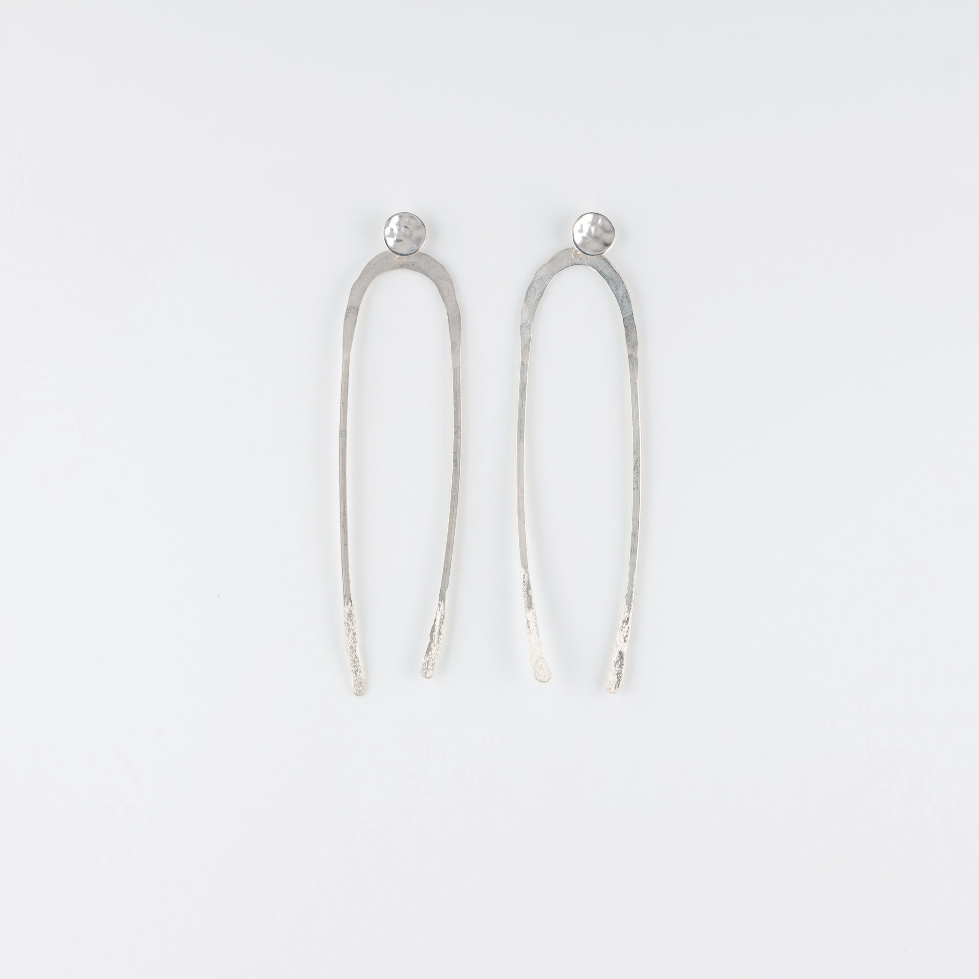 ARCO STERLING SILVER POST EARRINGS // LARGE