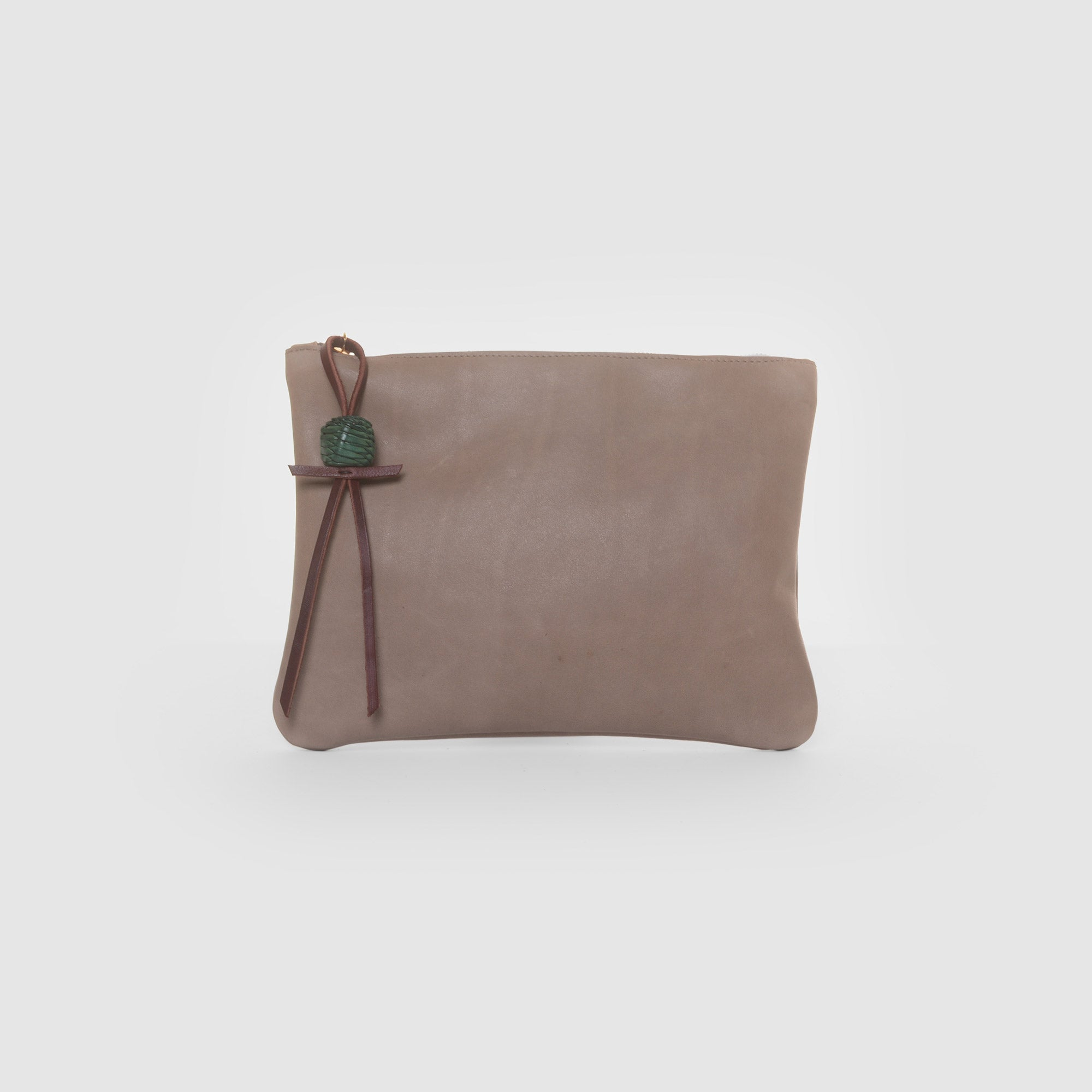 BOULE DE CUIRE CLUTCH  //  CLAY & EMERALD