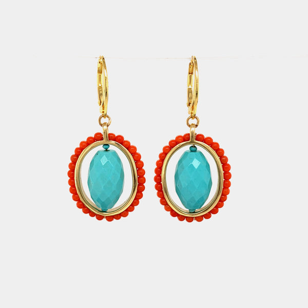 HEIRLOOM EARRINGS // TURQUOISE // CORAL