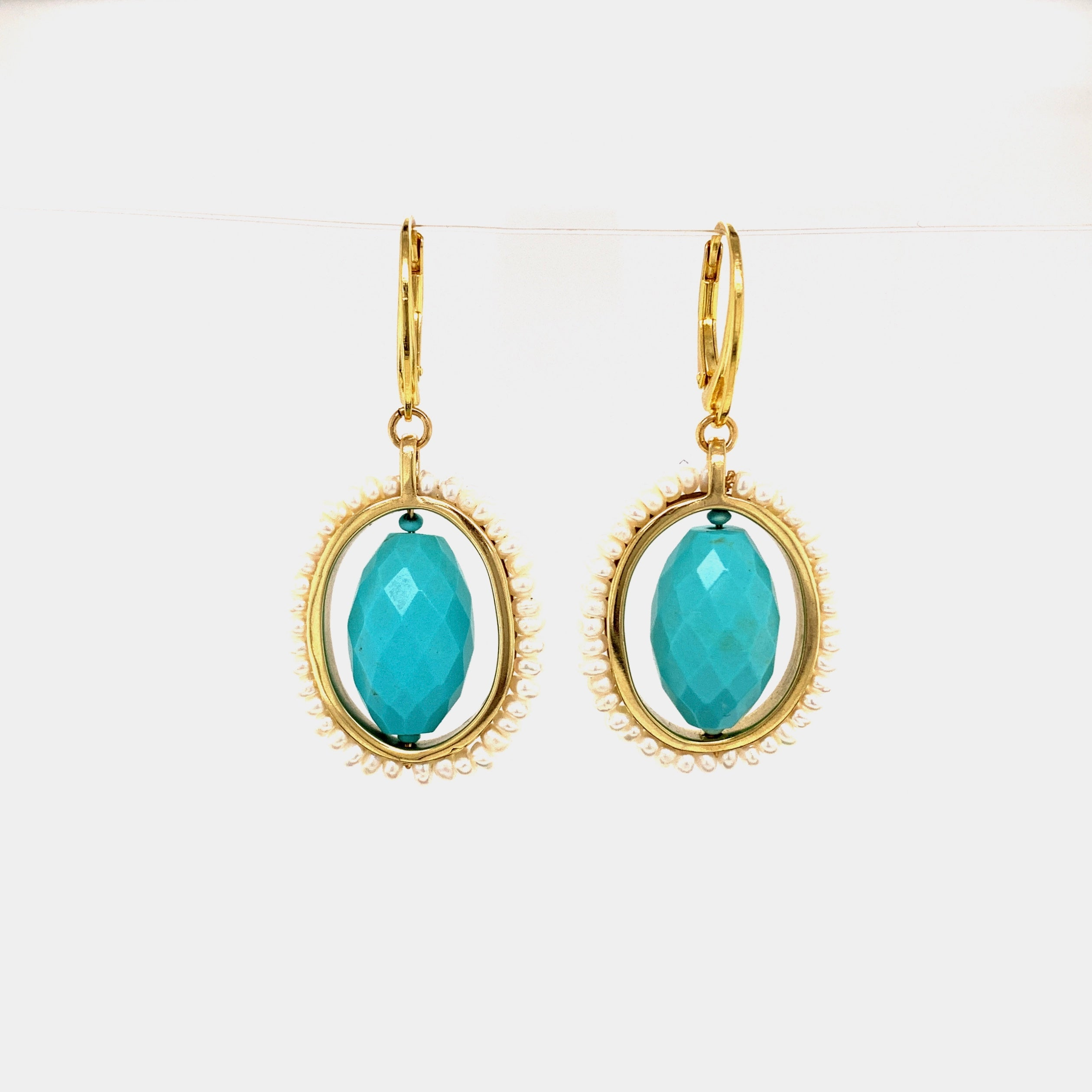 HEIRLOOM EARRINGS // TURQUOISE // PEARL