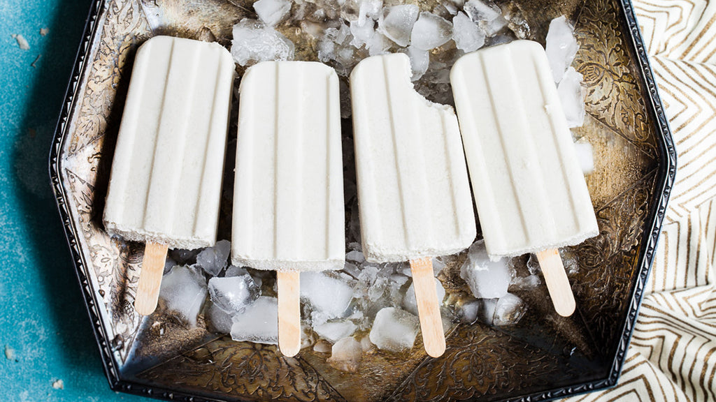 Honey, Ginger and Coconut Popsicles (DF, GF, VEG.)
