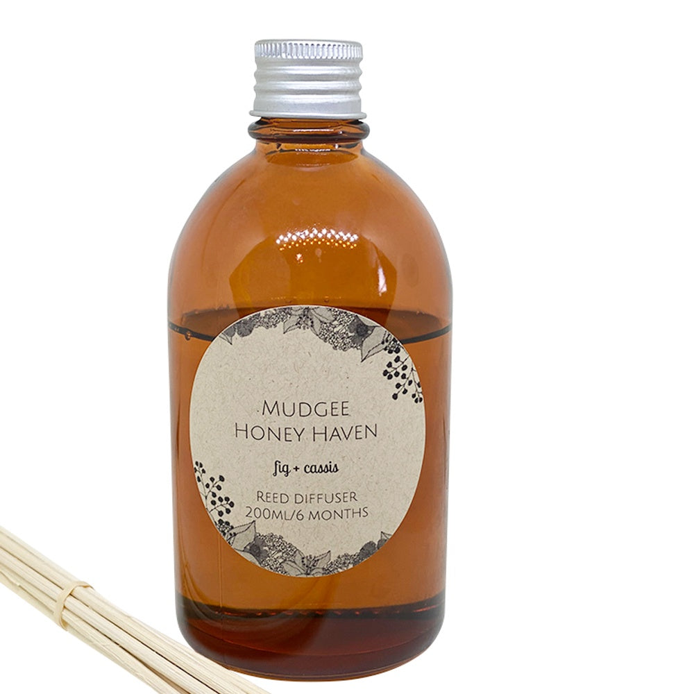 Fig & Cassis Reed Diffuser 200ml - Mudgee Honey Haven