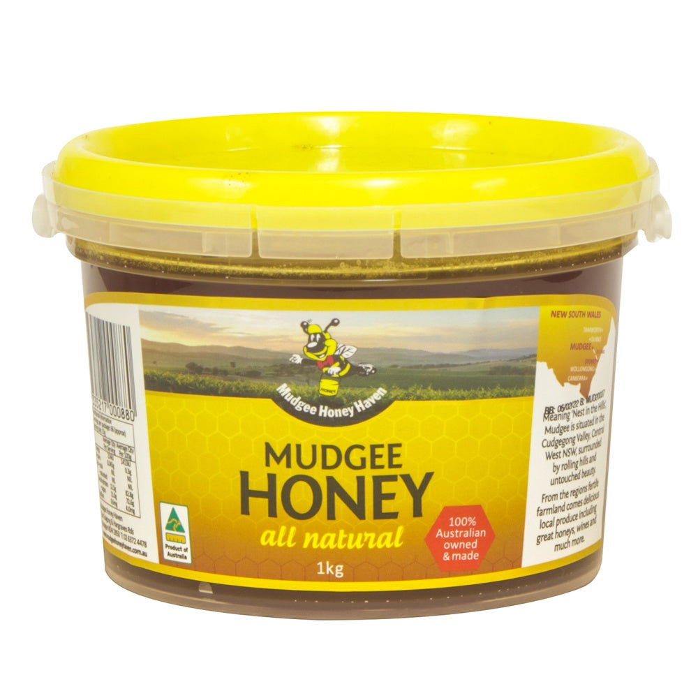 Mudgee Pure Honey 1kg - Mudgee Honey Haven
