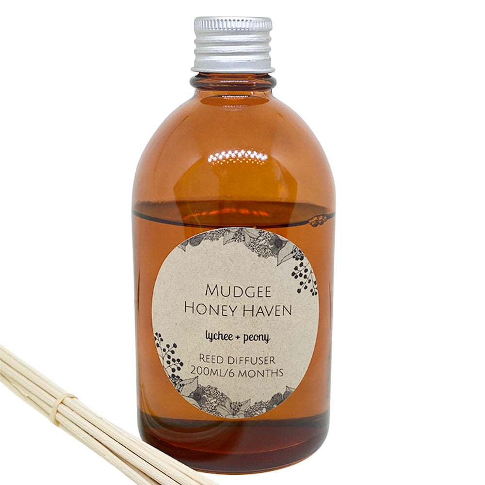 Lychee & Peony Reed Diffuser 200ml - Mudgee Honey Haven