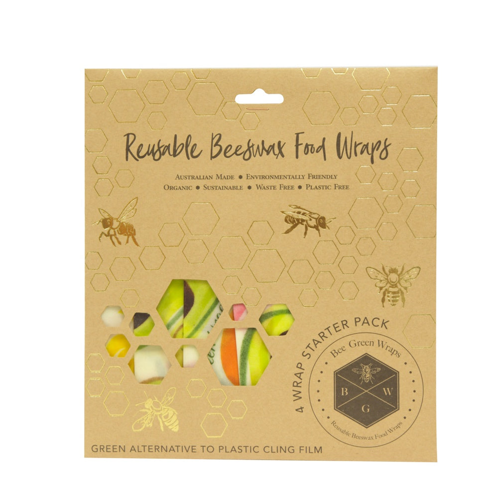 Bee Green Wraps - 4 x Starter Pack - Mudgee Honey Haven