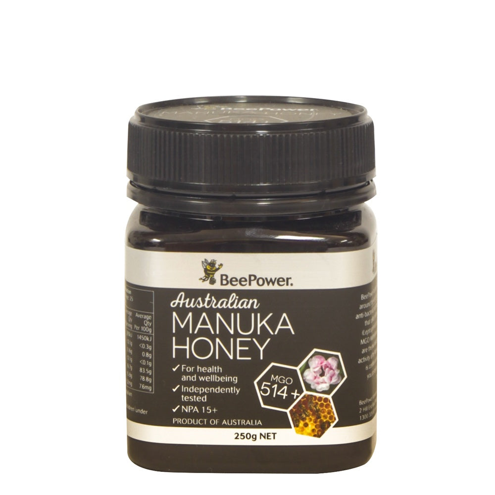 Beepower Manuka (+15 UMF - MGO 514) 250g - Mudgee Honey Haven