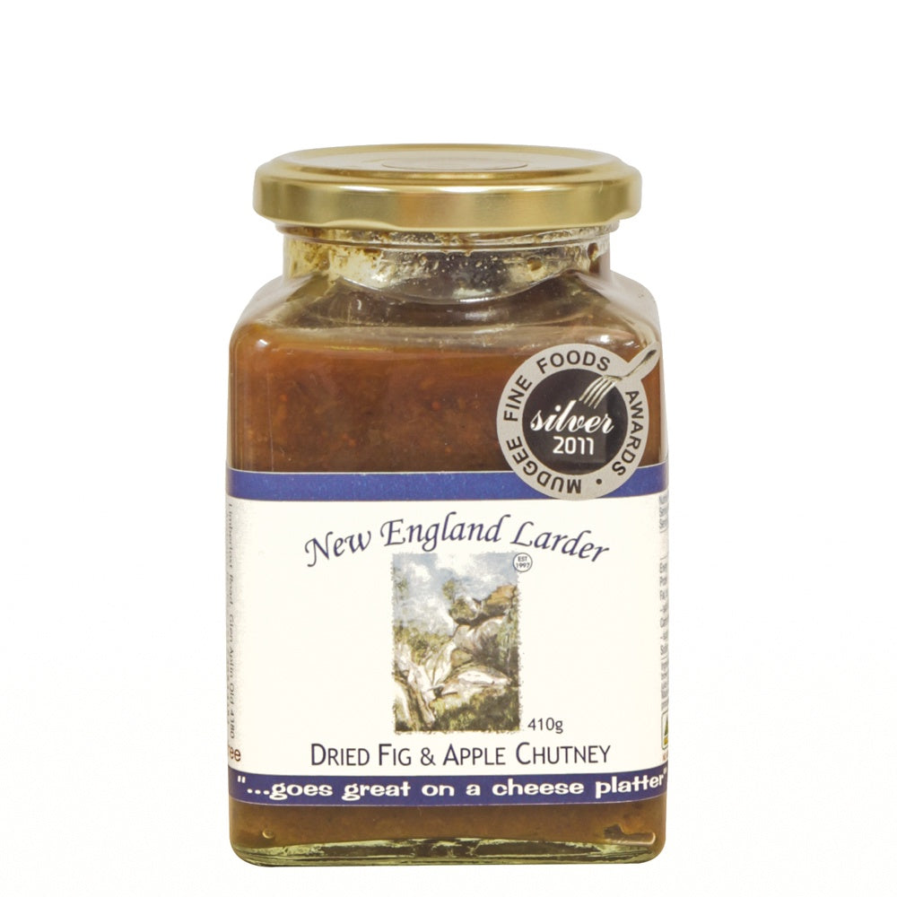 New England Larder Dried Fig & Apple Chutney 375g - Mudgee Honey Haven