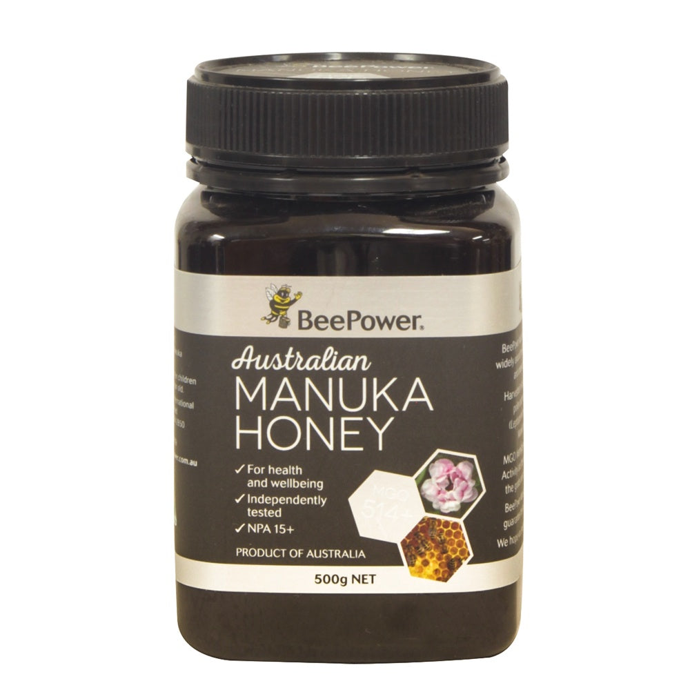 Beepower Manuka (+15 UMF - MGO 514) 500g - Mudgee Honey Haven