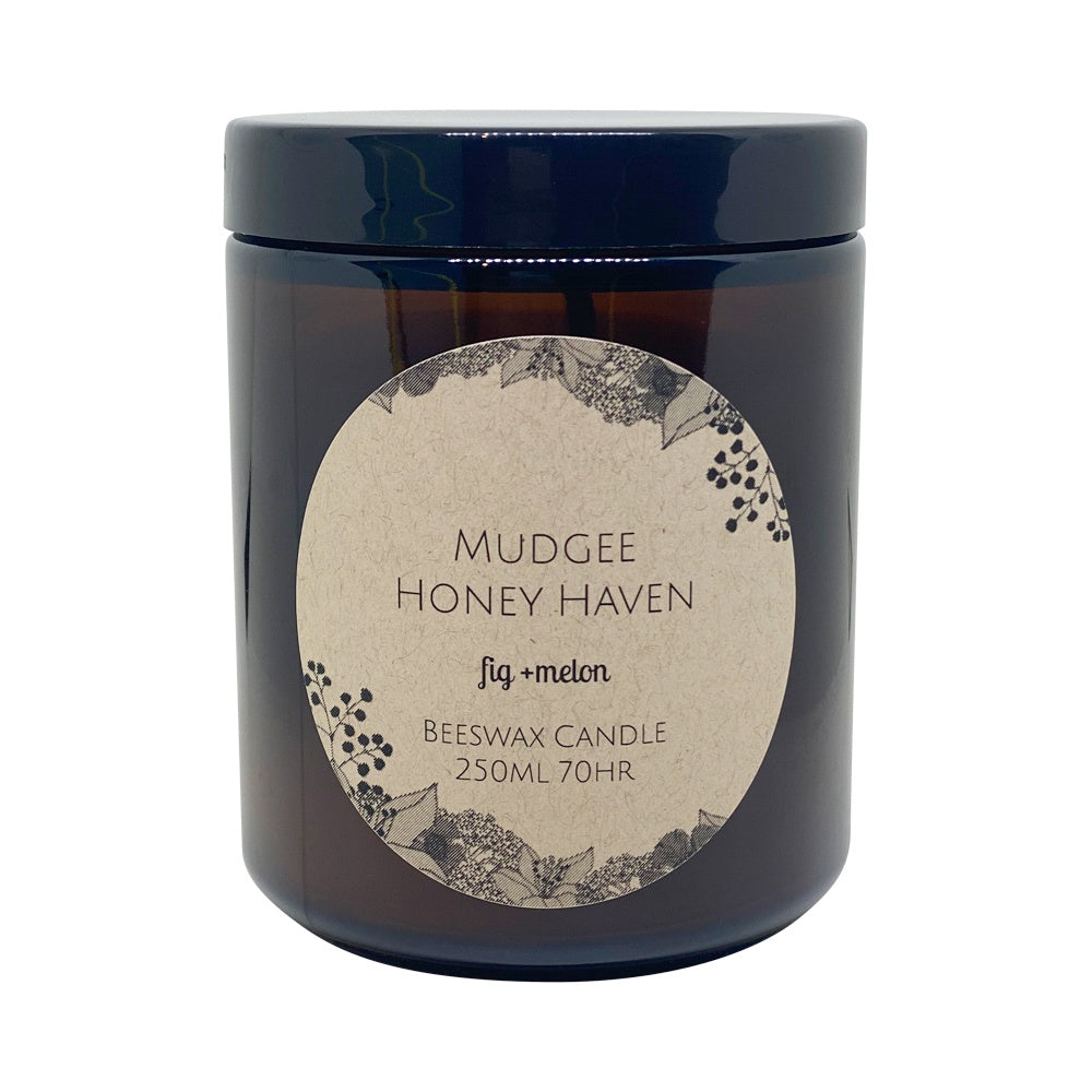 Beeswax Candle Fig & Cassis 200ml - Mudgee Honey Haven