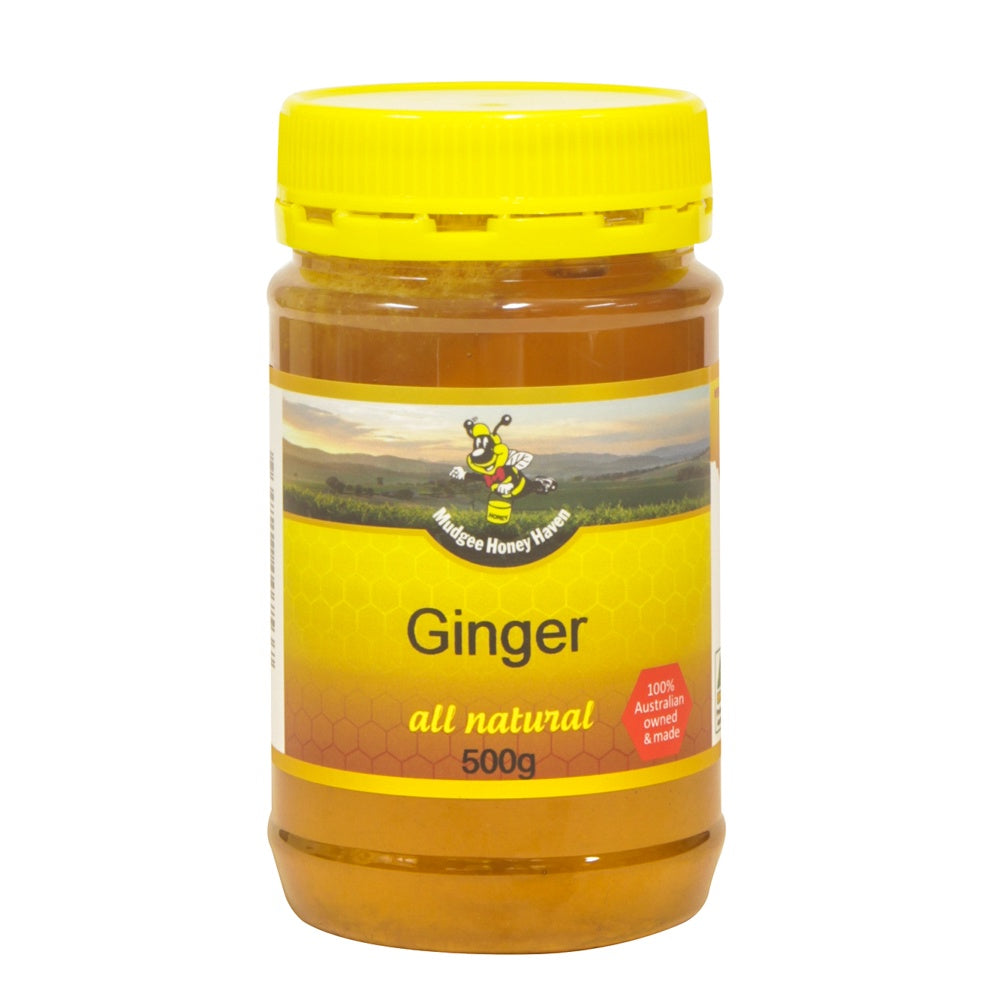 Ginger Honey 500g - Mudgee Honey Haven