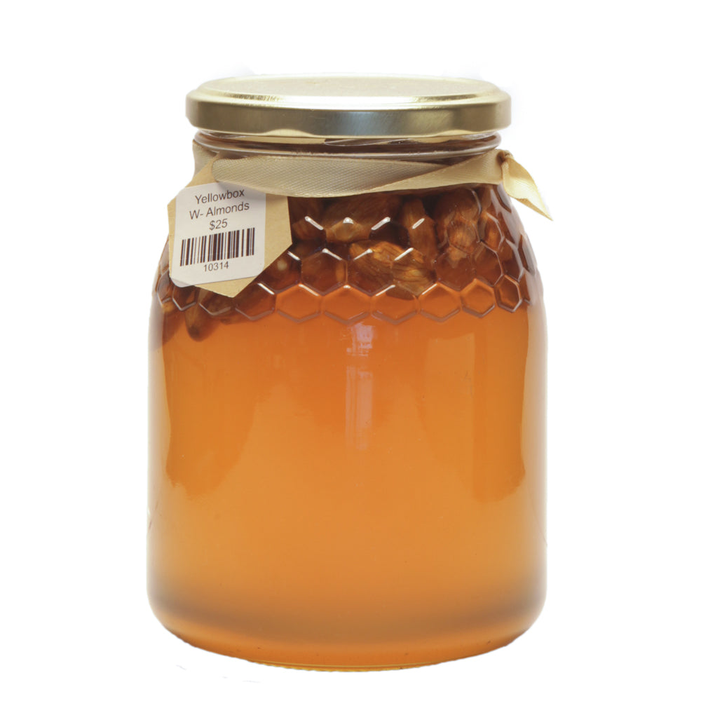 Yellowbox with Cashews or Almonds 500g - Mudgee Honey Haven