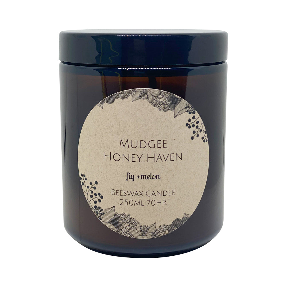 Beeswax Candle Fig & Melon 250ml - Mudgee Honey Haven