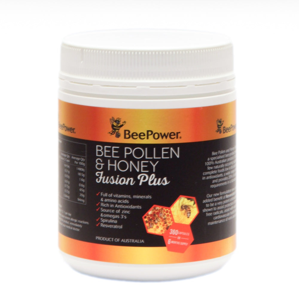 Beepopwer Fusion Plus Capsules (6 months supply) - Mudgee Honey Haven