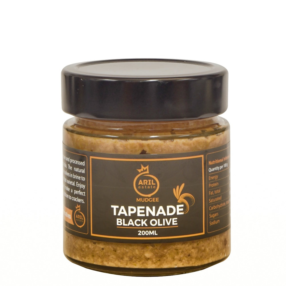Aril Estate Tapenade Black Olive 200ml - Mudgee Honey Haven