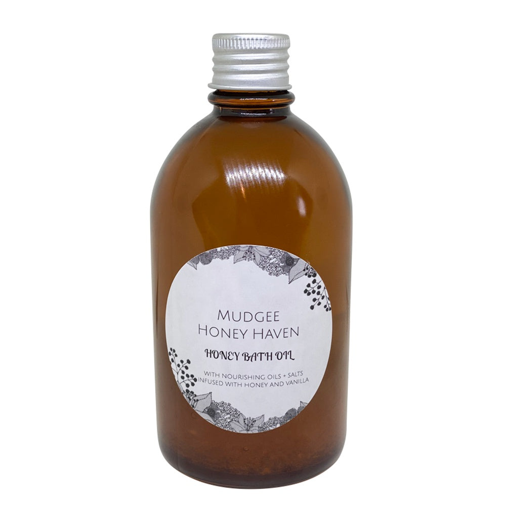 Honey Bath Oil with Salt & Vanilla 200ml - Mudgee Honey Haven