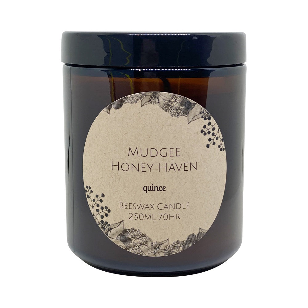 Beeswax Candle Quince 250ml - Mudgee Honey Haven
