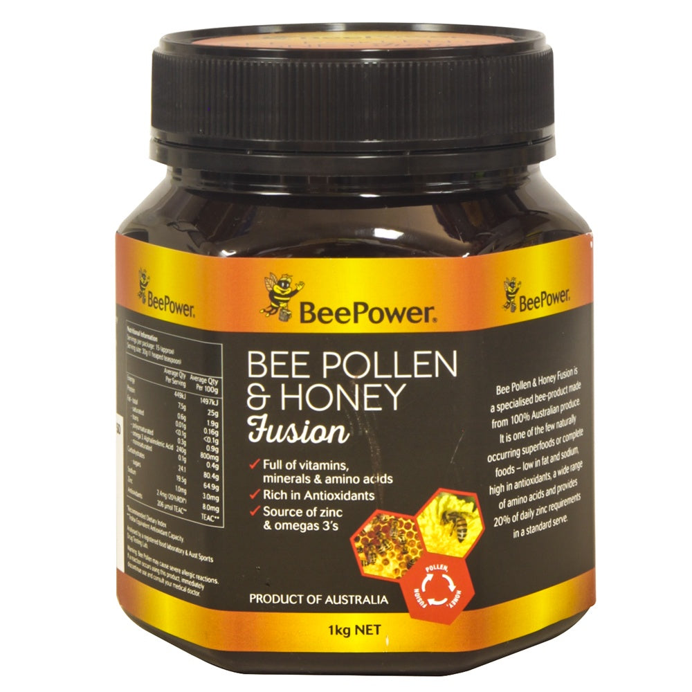 Beepower Pollen & Honey Fusion 1kg - Mudgee Honey Haven