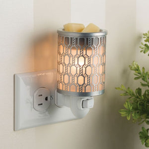 Filigree Silver Plug-in Warmer