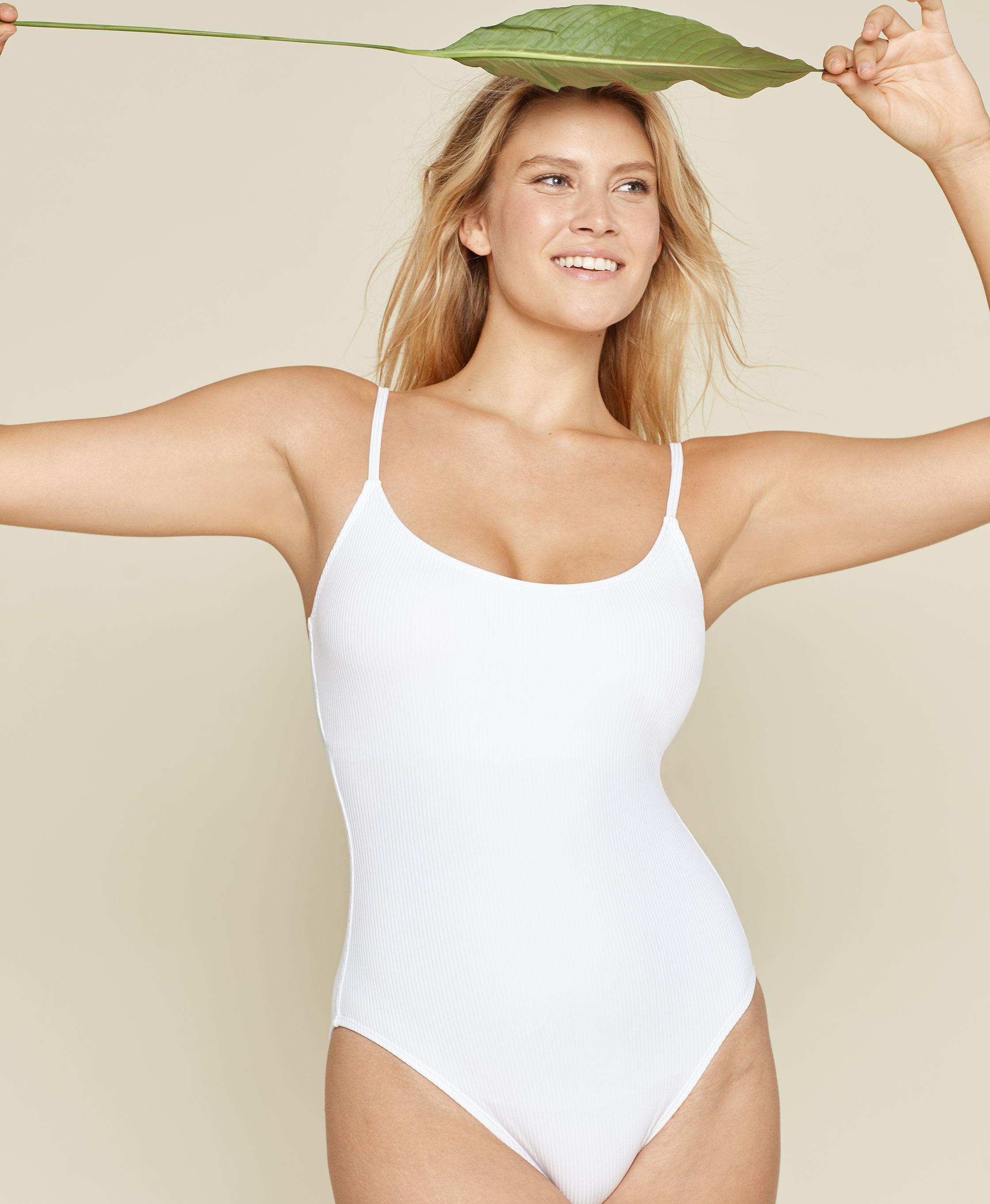 The Amalfi - Ribbed - White - Long Torso