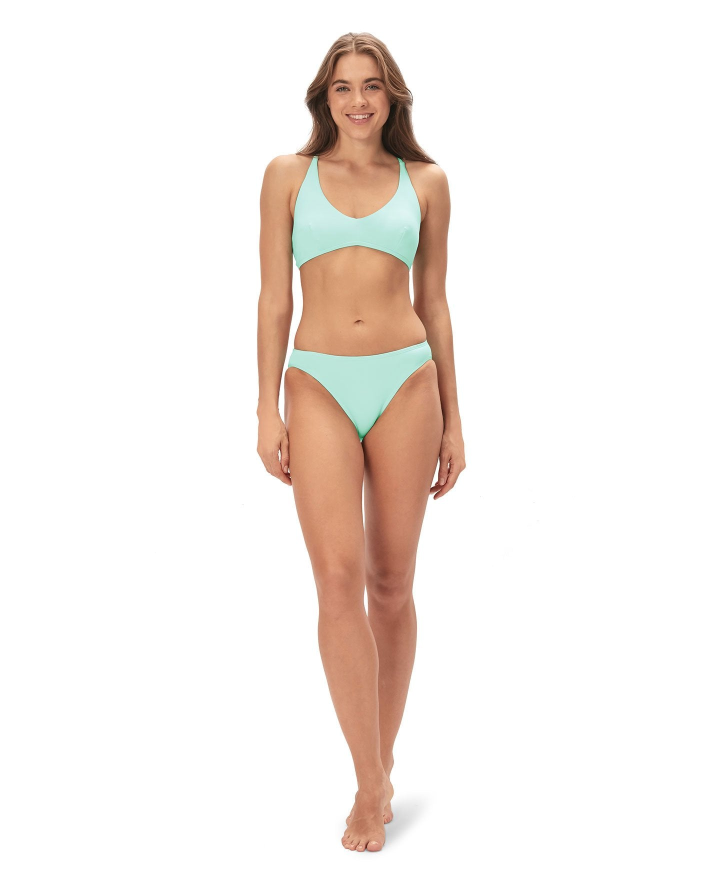 The Bikini Bottom - Flat - Aqua - Final Sale