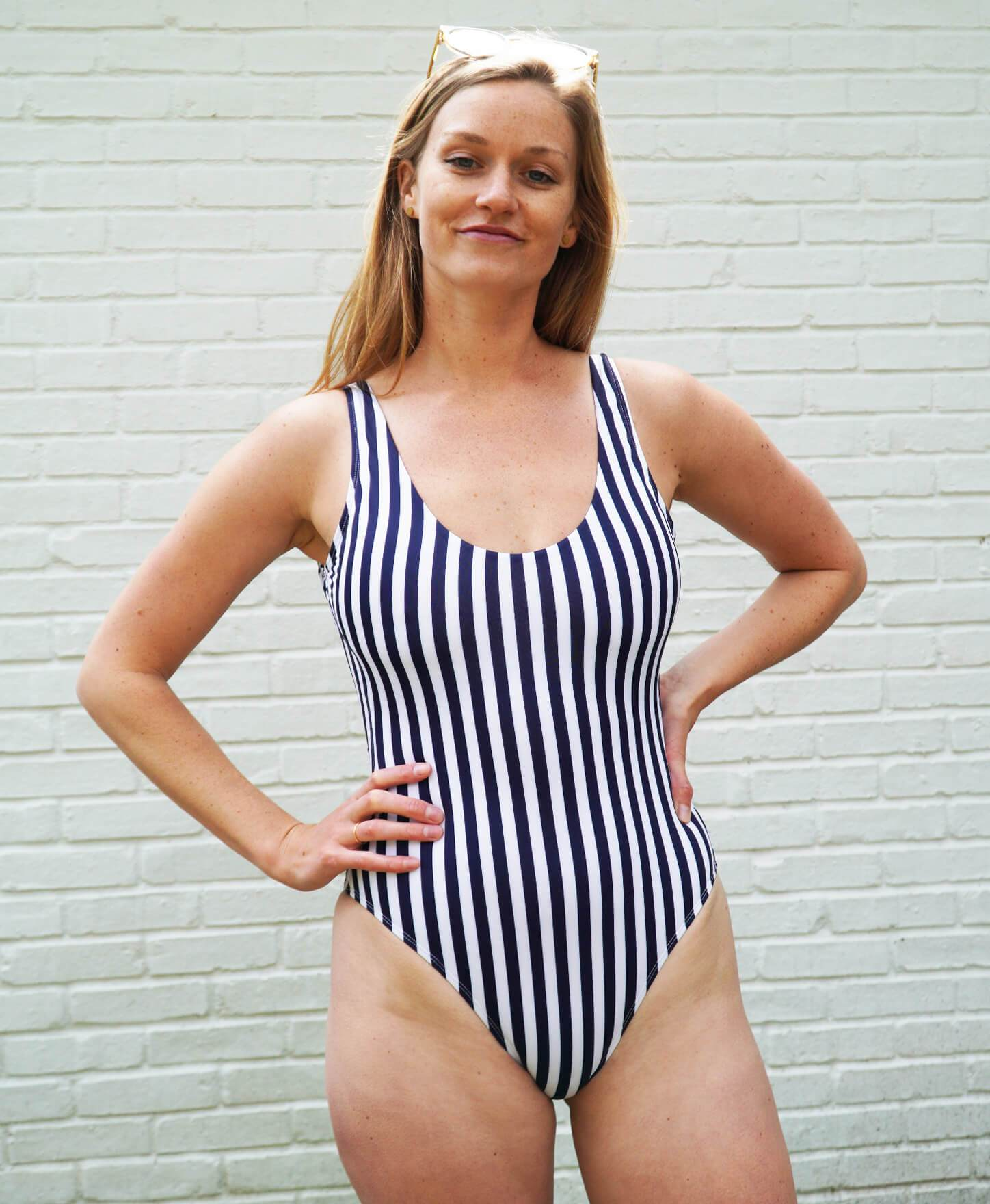 The Ibiza - Eco - Navy Stripe - Classic