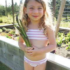 The Kids Bikini - Eco - Rose Stripe