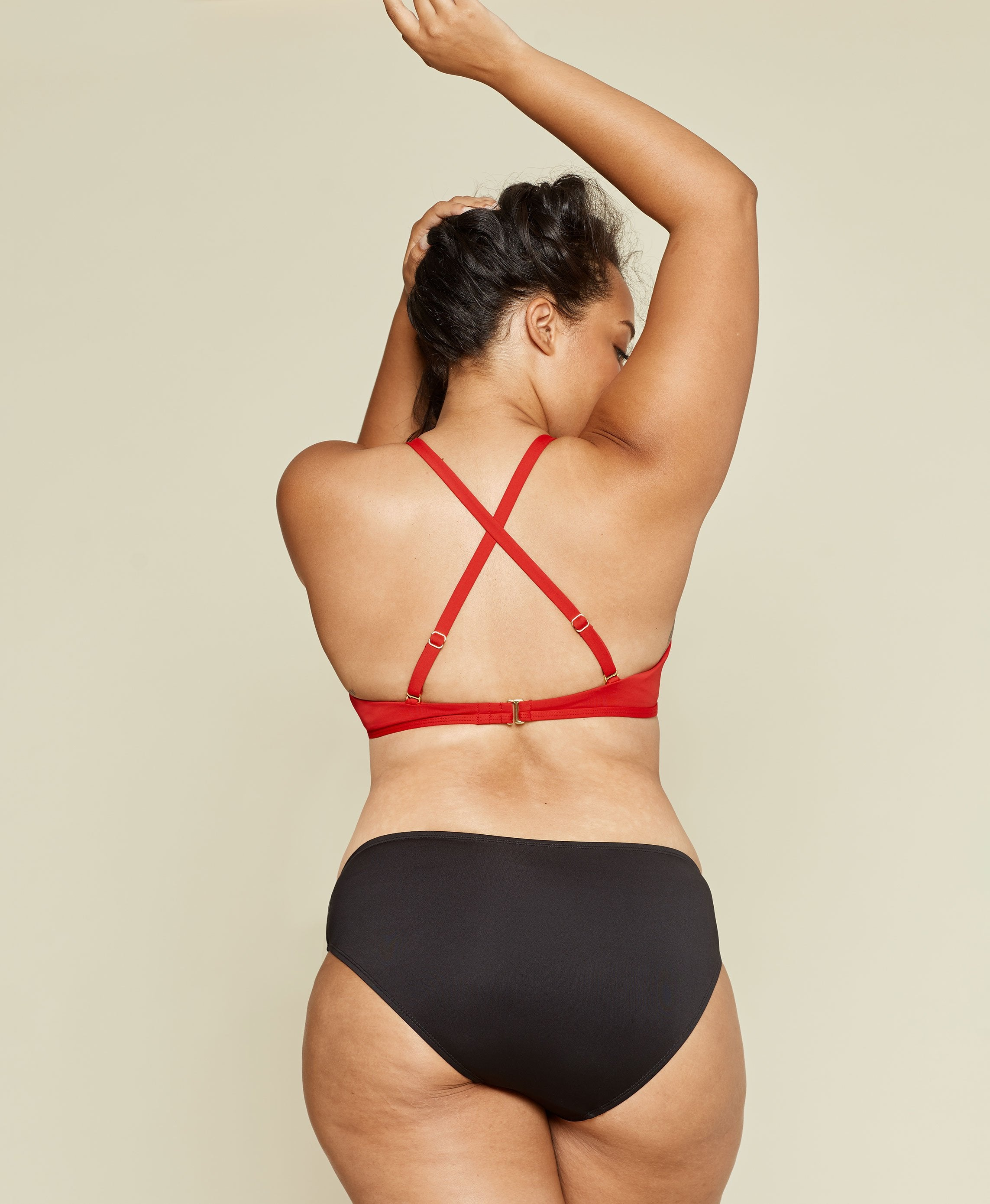 The Valencia Top - Flat - Cherry Red