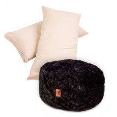 Pillow Pod Footstools - Faux Fur