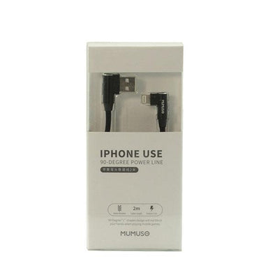 CABLE PARA IPHONE USE 90 DEGREE 2 M NEGRO