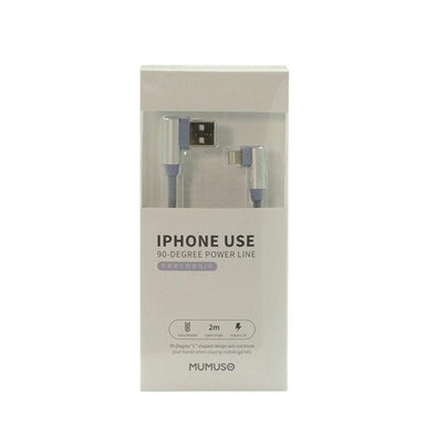 CABLE PARA IPHONE USE 90 DEGREE 2 M AZUL