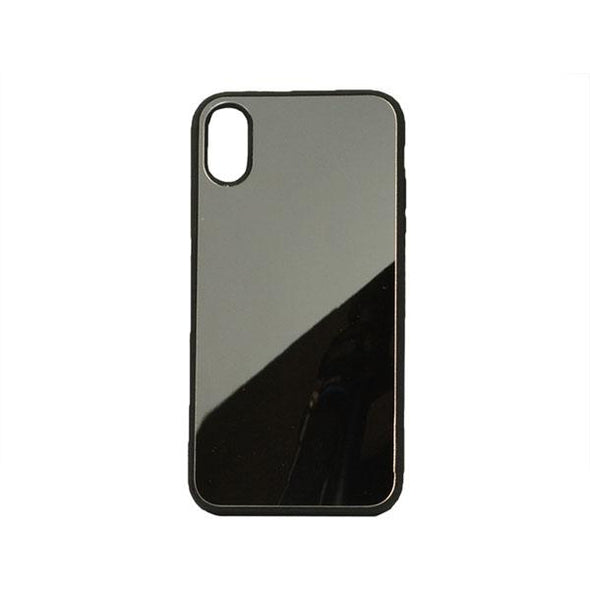 FUNDA IPHONE X XS CON SUPERFICIE DE ESPEJO PLATEADO