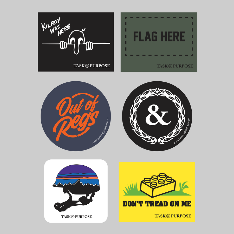 TASK & PURPOSE Sticker Pack (6)