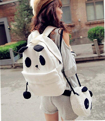 Panda Backpack Crossbody Set - The Bag Culture