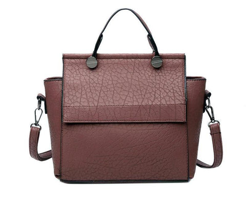 Textured Trapeze Leather Tote - 6 colours - The Bag Culture