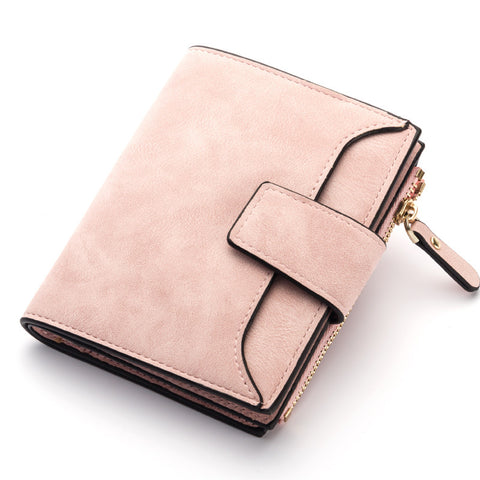 Retro Matte Women's Wallet Hasp Zipper - The Bag Culture