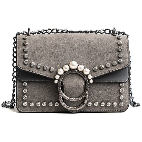 Pearl Studded Crossbody Bag - The Bag Culture