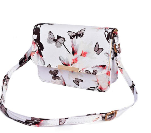 Butterfly Print Vegan Leather Crossbody - The Bag Culture