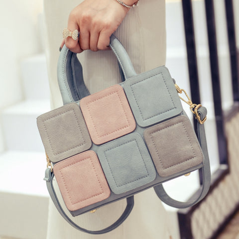 Beautiful Patchwork Structured Handbag - The Bag Culture