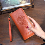 Ladies Embossing Leather Wallets - The Bag Culture